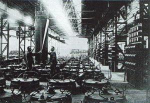 6: Arbeiter im Kalkstickstoff-Ofenhaus
