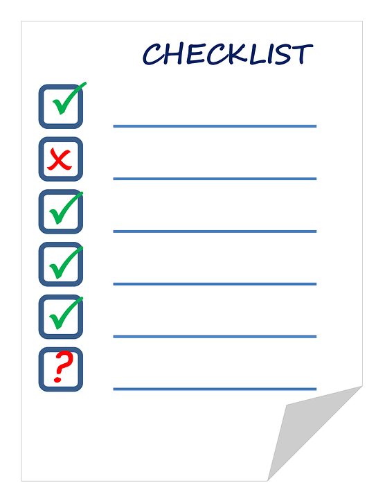 Lecture: Your checklist!