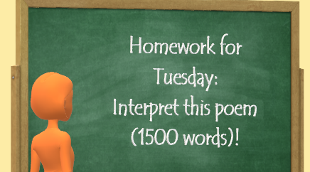 Motivation problem: Interpret this poem (1500 words) ...