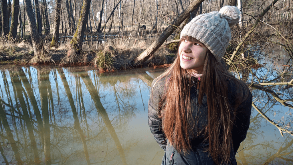 Forest pic: Me next to a pond