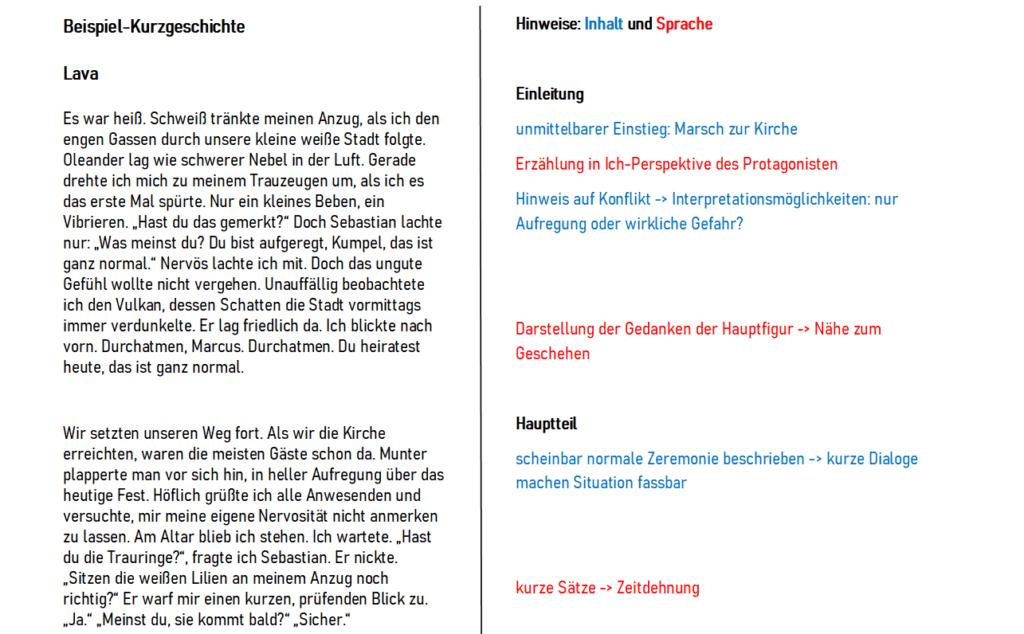 """Beispiel-Kurzgeschichten: """"Lava"""" von Maja Ruprecht"""