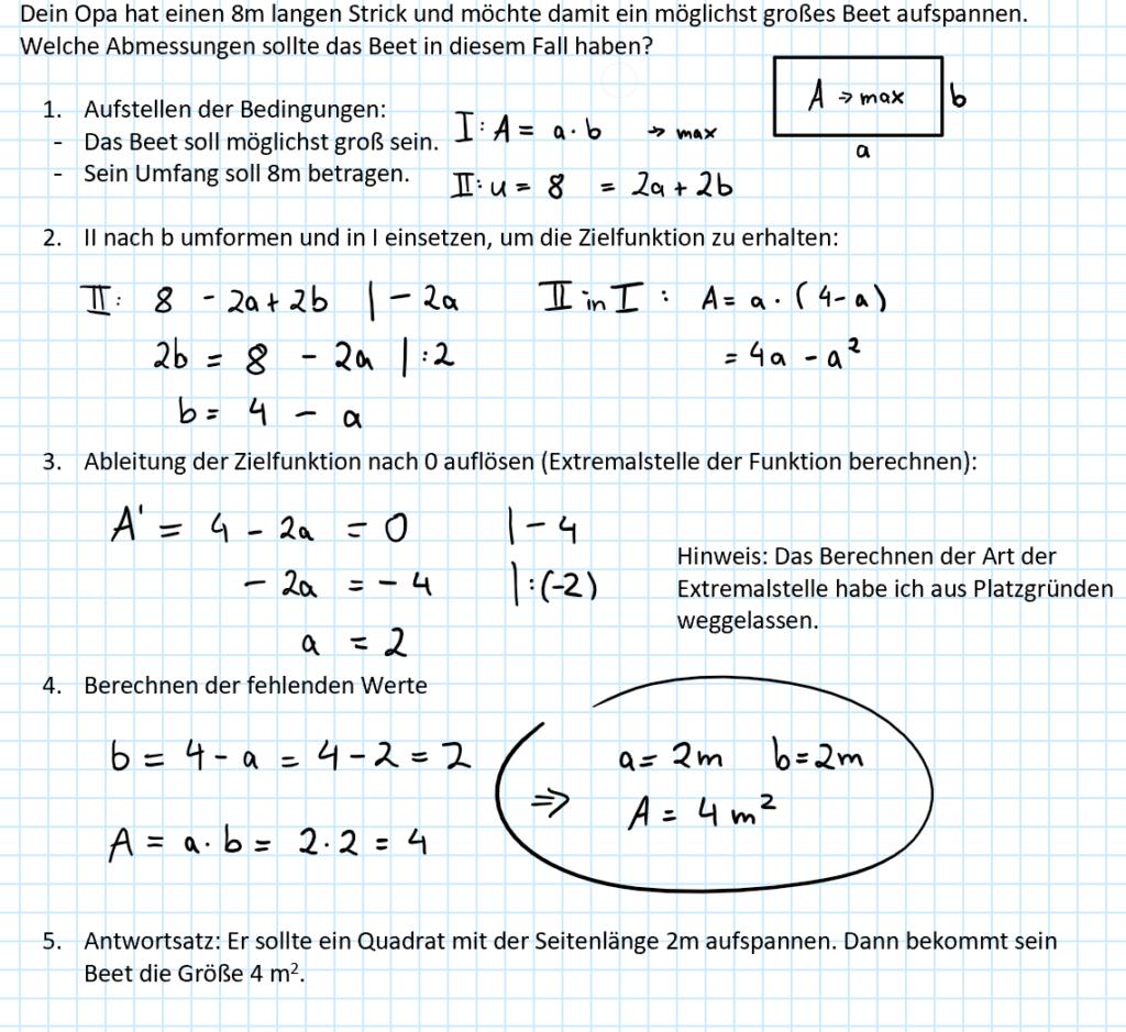 Beispiel dafür, dass man Mathe nicht nur in der Schule braucht